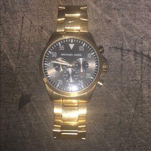Michael Kors black dial gold-tone watch